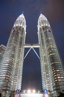 Petronas Towers, Kuala Lumpur, Kl, Malaysia, Klcc