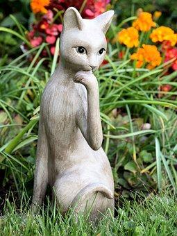 Cat, Fig, Decoration, Meadow, Deco, Art, Garden
