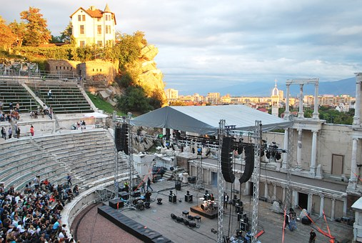 Plovdiv, Ancient, Theater, Old Town, Stones, Concert