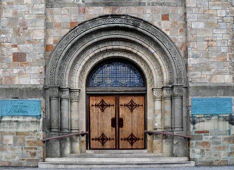 Plymouth Massachusetts, Church, Door, Architecture