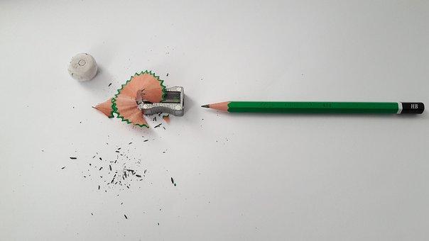 Drawing, Pencil, Waist Pencil, Carbon, Black, White