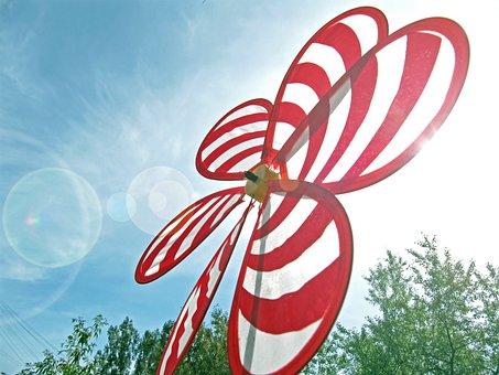 Whirligig, Pinwheel, Spinner, Windmill, Wind, Big