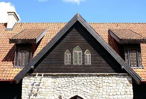 Window, Attic, Castle, The Roof Of The, Old Buildings