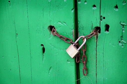 Castle, Padlock, Chain, Goal, Blocked, Secure, Close Up