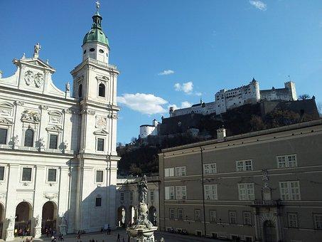 Salzburg, Dom, Church, Salzburg Cathedral, Building