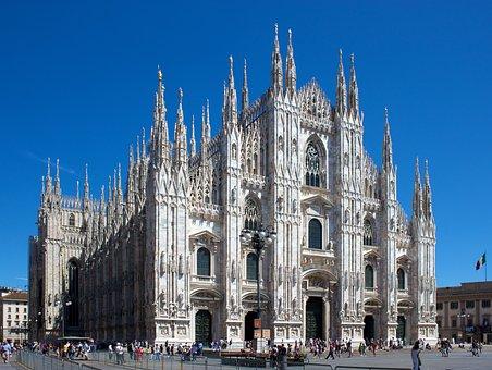 Milan, Italian, Cathedral, Duomo