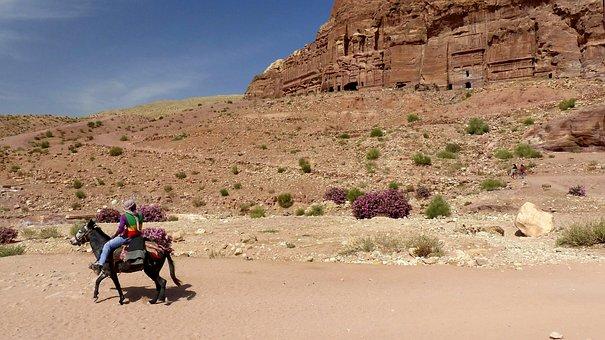Petra, Jordan, Travel, Ancient, Sandstone, Tomb, Desert