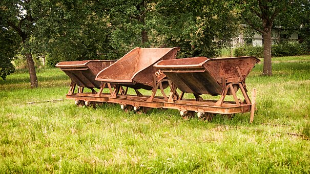 Trolley, My Carts, Rails, Outdoor, Tipper, Pasture
