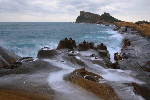 Coast, Landscape, Stone, Seaside, Taiwan