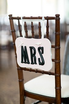 Mrs, Wedding, Chair