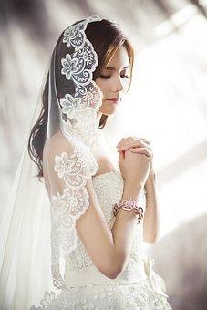 Wedding Dresses, Fashion, Character, Bride, Veil