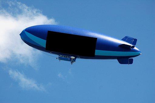 Blimp, Air Ship, Balloon, Text Space, Advertisement