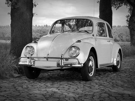 Vw, Beetle, Oldtimer, Classic, Cobblestones, Old