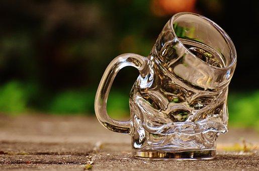 Mug, Deformed, Kink, Funny, Glass, Large Glass