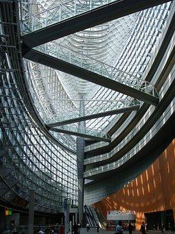 Tokyo International Forum, Glass, Building, Bridge