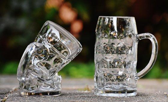 Beer Mugs, Deformed, Kink, Funny, Glass, Large Glass
