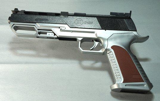 Toy, Gun, Pistol, Plastic, Weapon, Firearm, War, Game