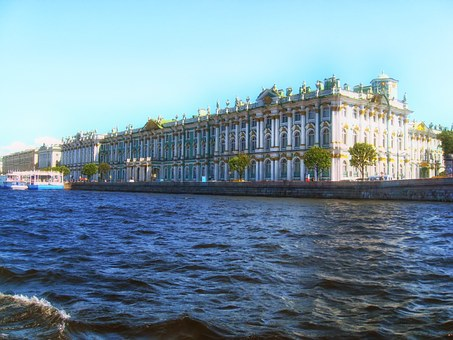 Building, Winter Palace, River, Bog, Peter, Russia