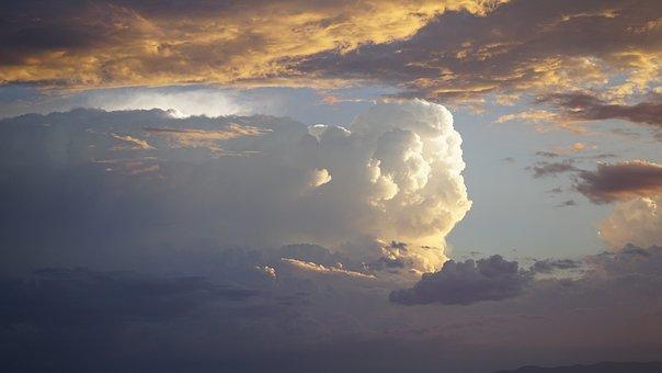 Clouds, Cotton, Fluff, Sky