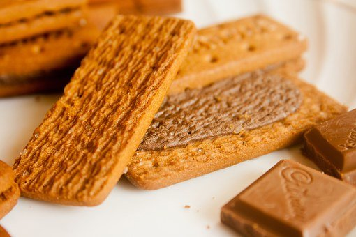 Wafers, Chocolates, Cream, Biscuits, Cookies, Food