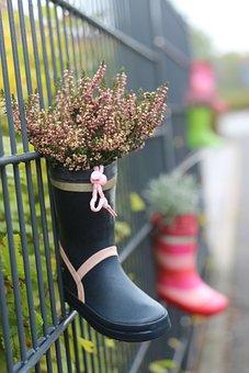 Decoration, Deco, Boots, Flowers, Kids Boots