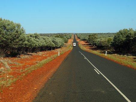 Road, Outback, Desert, Red Dirt, Road Ahead, Deserted