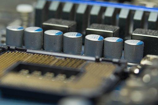 Capacitors, Cpu, Intel, Processor, Technology