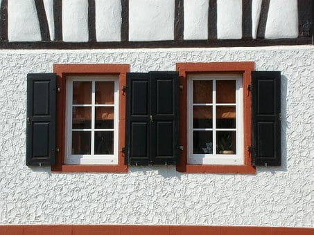 Windows, Shutters, St Leon, House, Architecture, Home