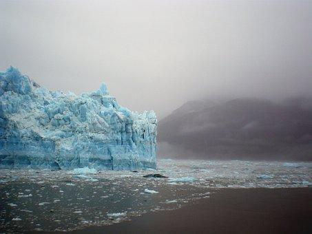 Glacier, Ice, Iceberg, Alaska, Straits, Landscape, Cold