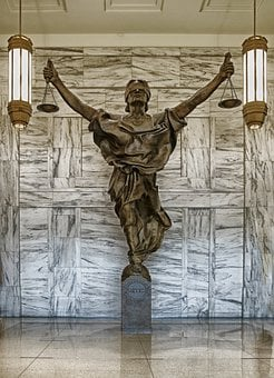 Figure Of Justice, New York City, Courthouse, Justice
