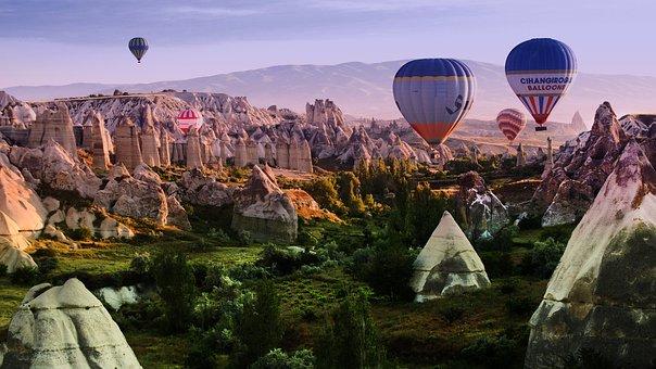 Travel, Balloon Flight, Pageant, Cappadocia, Nature