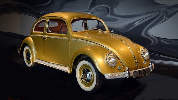 Vw, Beetle, Classic, Old, Rhinestone, Automotive