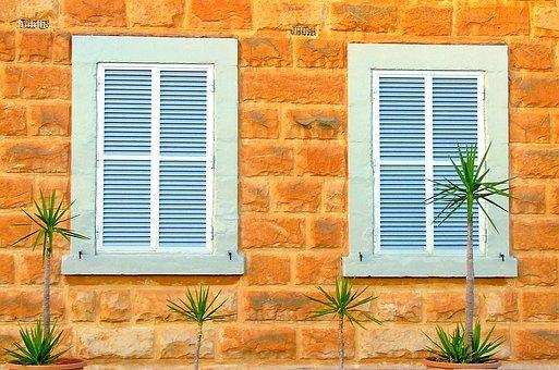 Shutters, Windows, Shuttered Windows, Home, House