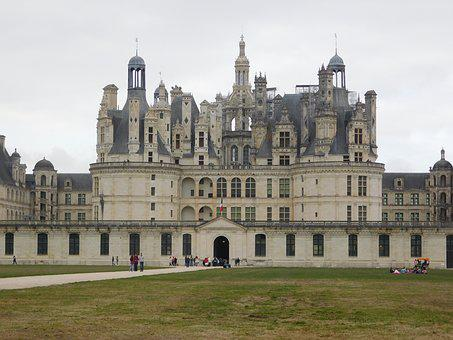 Castle, Chambord, Fall, Loire Valley, France