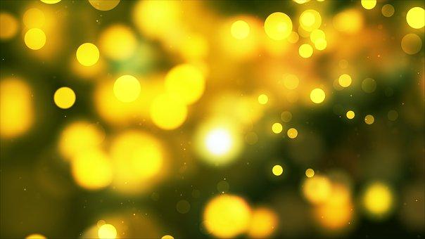 Lights, Yellow, Circles, Bokeh, Glow, Abstract