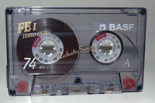 Music, Cassette, Compact Cassette, Magnetic Foil, Sound