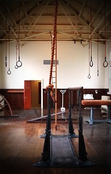Gymnasium, Historic Gym, Old Fashioned