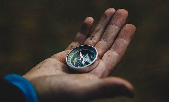Compass, Hand, Desktop, Background, Compas, Travel