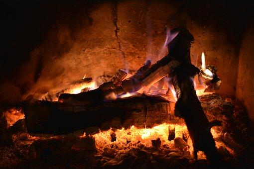 Fire, Heat, Dangerous, Darkness, Fireplace, Burn