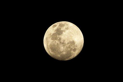 Moon, Satelite, Night Sky, Space, At Night