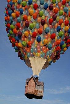 Ball, Hot-air Ballooning, Sky, Windbag, Up There