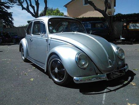 Volkswagen, Ladybug, Porsche, Automobile, Auto, Car