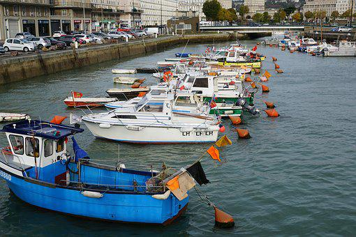 Le Havre, City, France, River, Water, Boot