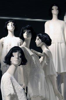 Mannequin, Fashion, Black, White, Elegance, Clothes