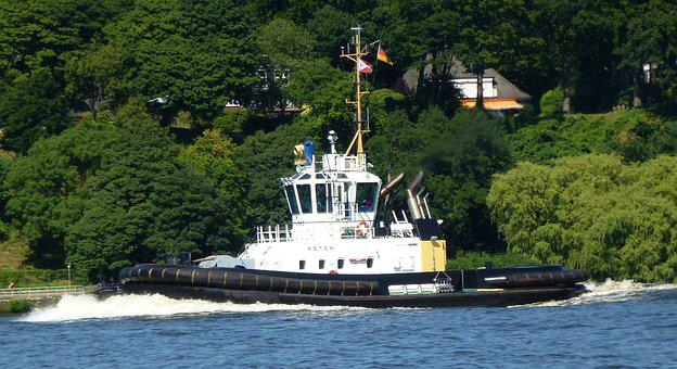 Tug, Maritime, Port, Elbe, Hamburg, Shipping, Ship