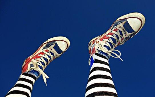 Shoe, Footwear, Sneakers, Legs, Female, Fashion