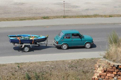 Toddler, Fiat, 126p, Trailer, Car, Auto, The Vehicle