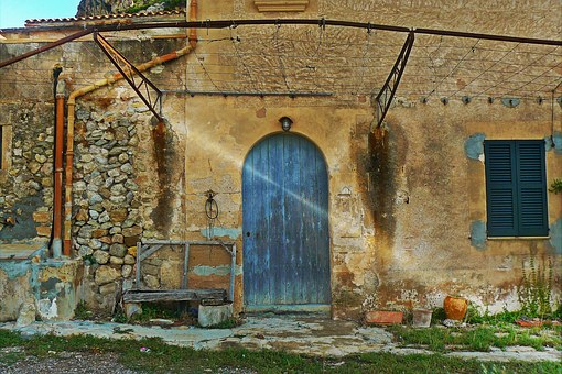 Mallorca, Finca, Holiday, Door, Hof, Antique, Ruin