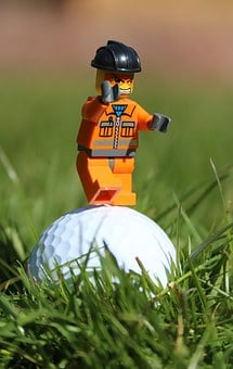 Golf, Golf Ball, Angry, Funny, Toy Man, Man, Grass