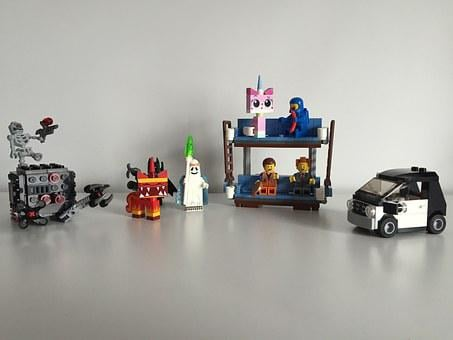 Lego, Batman, Movie, Biplane Couch, Unicorn, Skeleton